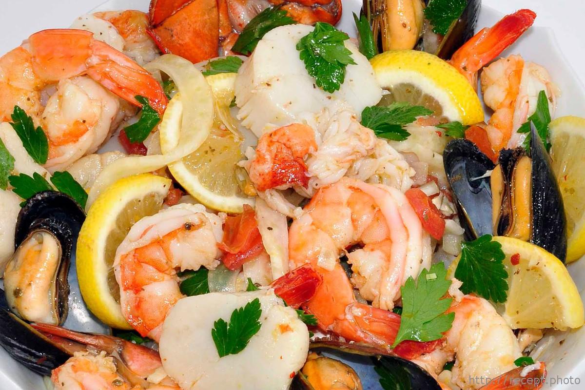 Открытки с морепродуктами