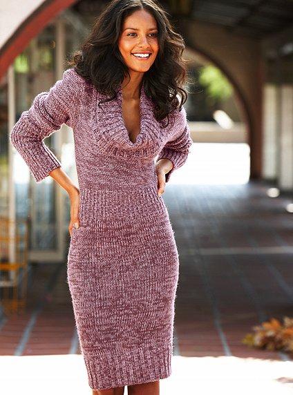 Платье вязаное с чем носить фото