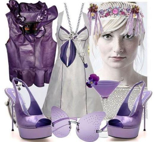 Серый плюс фиолетовый