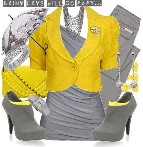 Серый плюс желтый