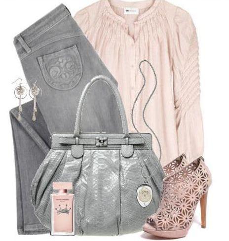 Серый плюс розовый