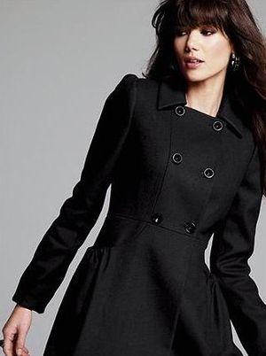 Черное пальто темно синее пальто
