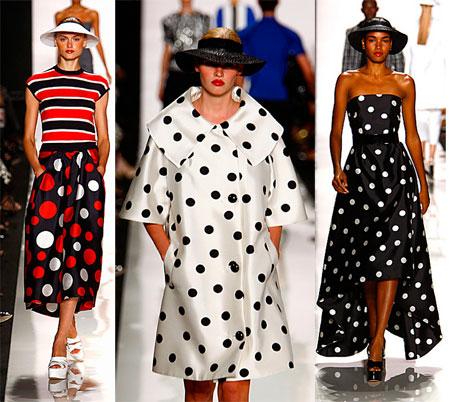 Модные платья в горошек в 2017 5