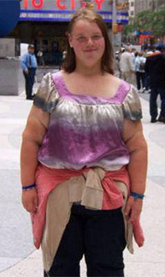 Толстая девушка подросток