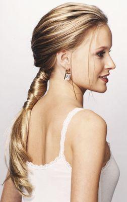 Причёска длинный хвост